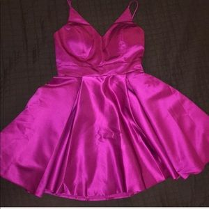 Fusha semi formal/ homecoming dress.